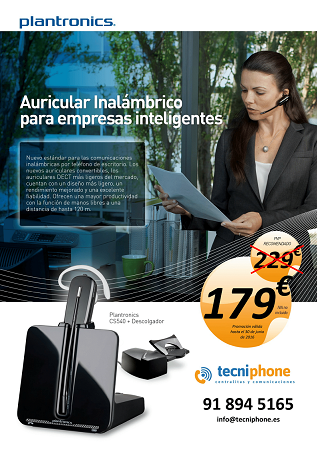 auricular Plantronics Cs540+base descolgadora